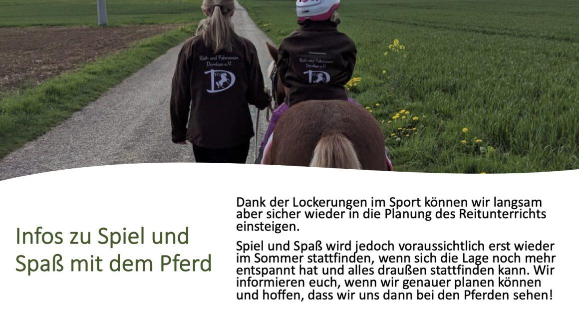 Informationen zu Spiel und Spaß mit dem Pferd